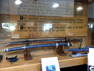 The Samurai sword on display at Chetco Public Library
