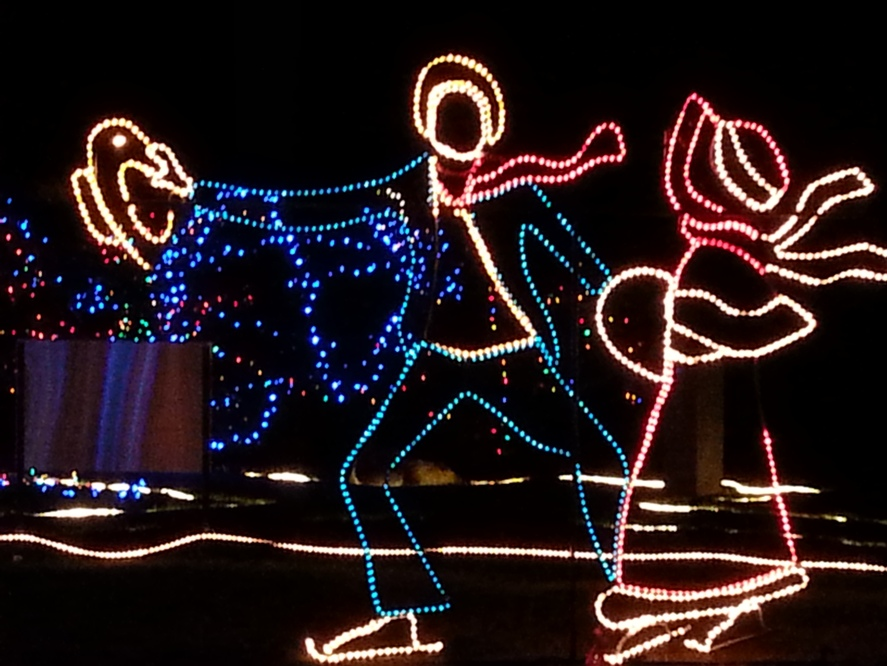 Photo of ice skater sculptures