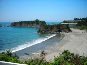 Photo of beach shot from Chetco Point Park