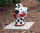 Photo of hydrant painted like dalmation